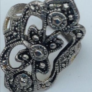 Marcasite Marcasite Ring Size 5.75 in Silver